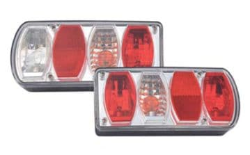 2 x (1 pair) REAR TAIL TRAILER LAMPS (TR026) truck lamps caravan